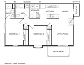 Bluff Apartments Floorplan 1