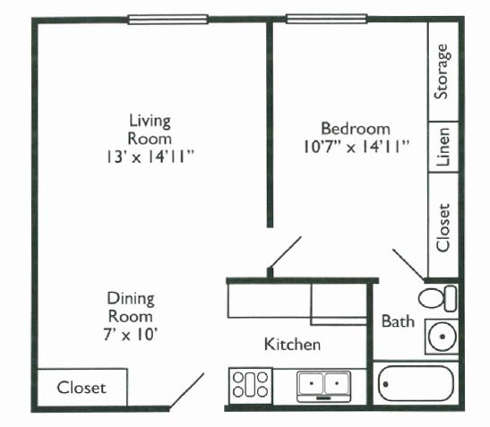 Columbus Place Floorplan 1