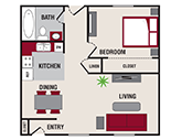 Featherstone Apartments Floorplan 1