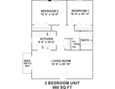 Hollow Tree Apartments Floorplan 2