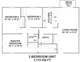 Hollow Tree Apartments Floorplan 3