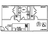 Oaks Apartments Floorplan 2