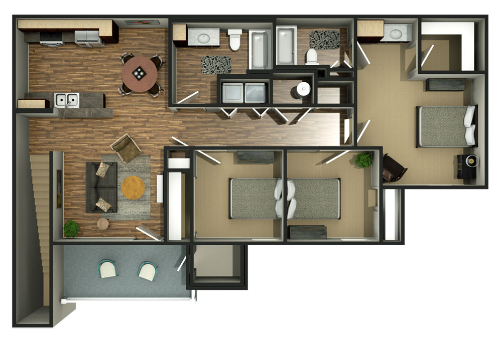 The Reserves at Perryton Floorplan 3