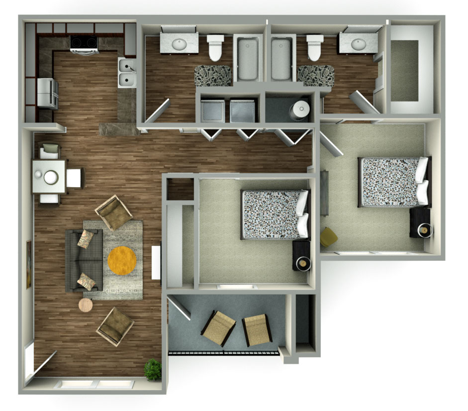 The Reserves at South Plains Floorplan 1