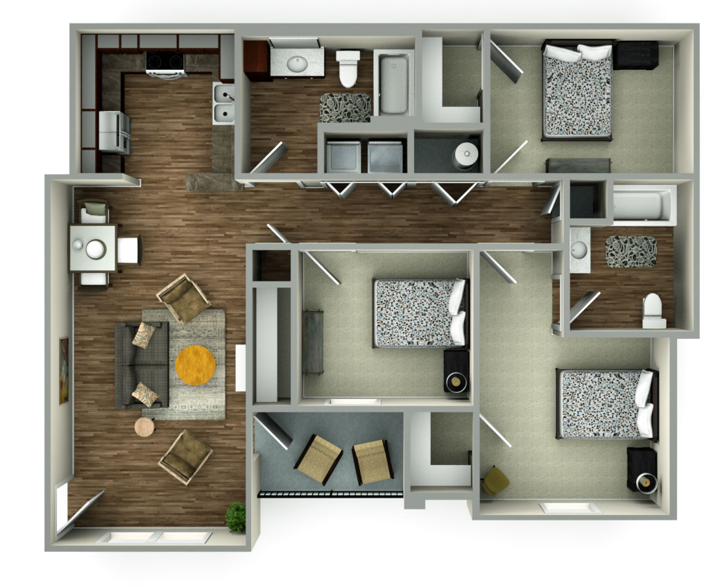 The Reserves at South Plains Floorplan 2
