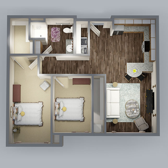 The Residence at Wolfforth Floorplan 2