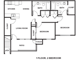The Reserves at High Plains Floorplan 1