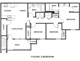 The Reserves at High Plains Floorplan 3