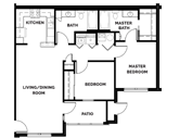 The Reserves at Maplewood Floorplan 1