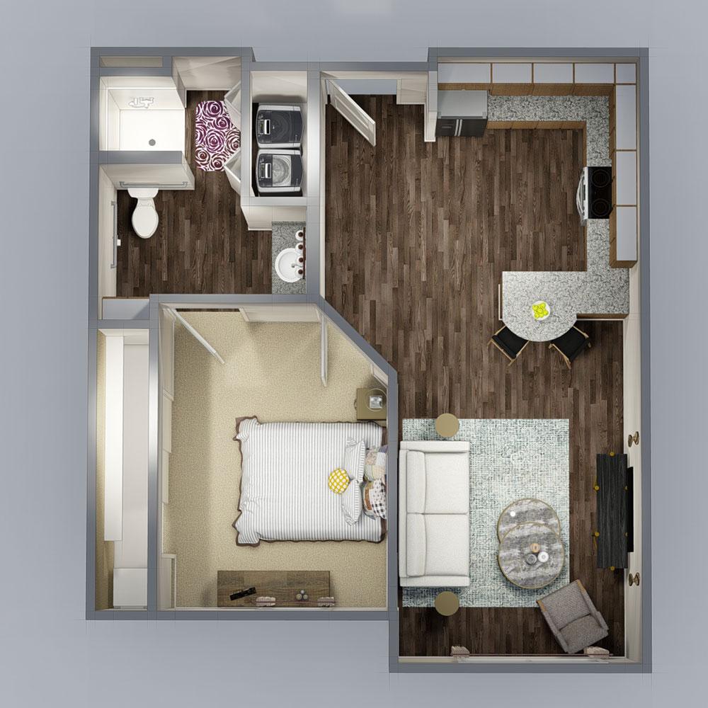 Autumn Wood Apartments: The Residence At Autumn Sage Floorplan 1