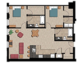 Travelers Hotel Apartments Floorplan 1