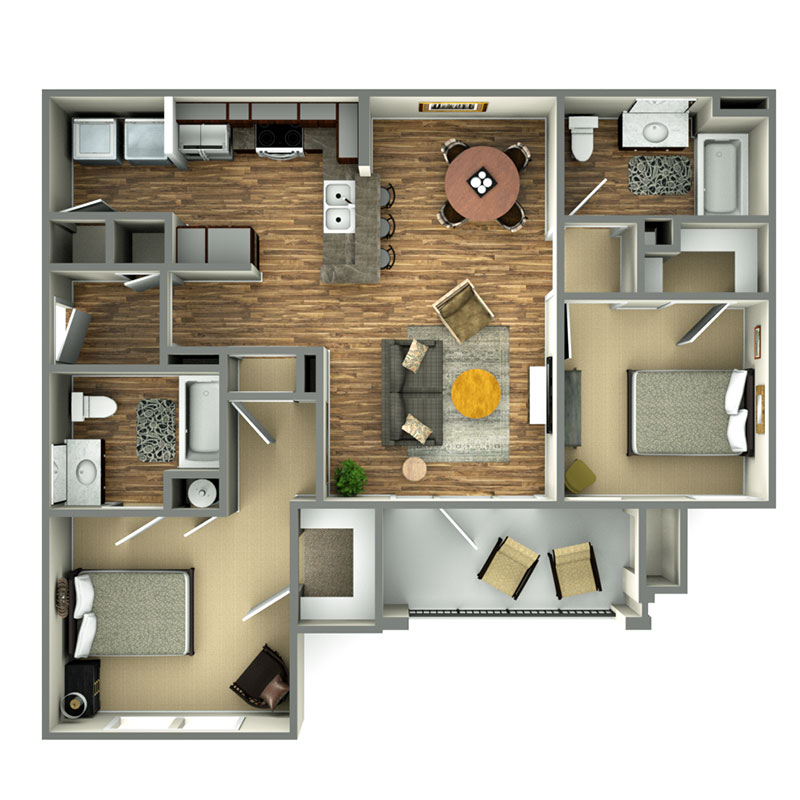 Highland Ridge Apartments I Floorplan 1