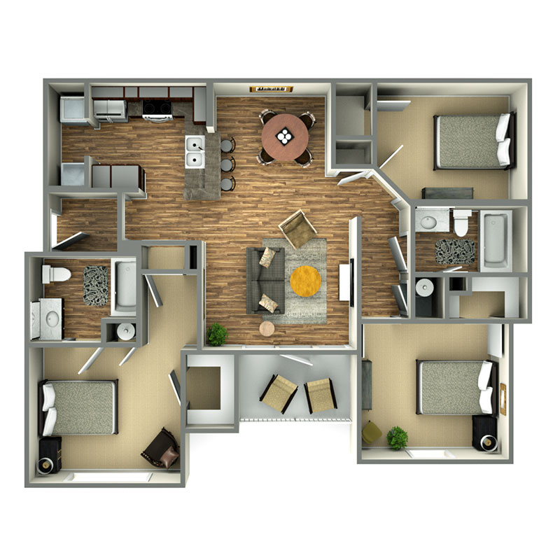 Highland Ridge Apartments I Floorplan 2