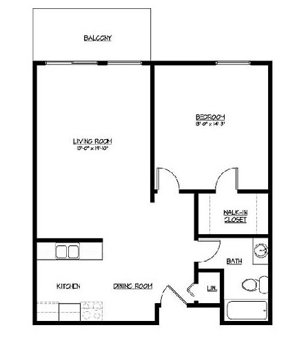 Onyx at Aksarben Floorplan 1