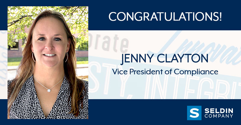 JENNY CLAYTON PROMOTED TO VICE PRESIDENT OF COMPLIANCE