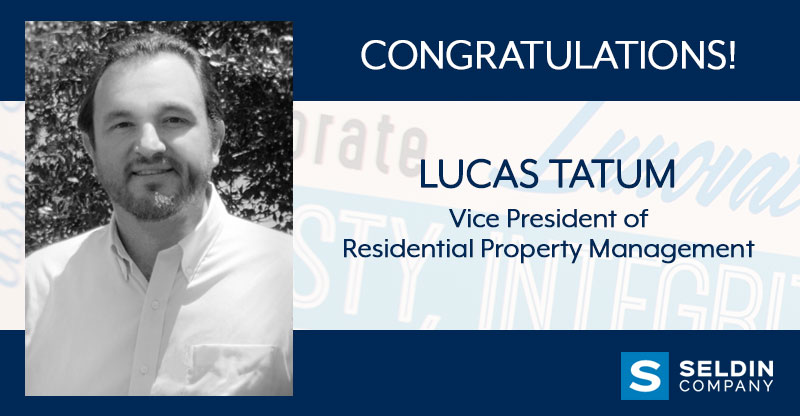 LUCAS TATUM PROMOTED TO VICE PRESIDENT OF RESIDENTIAL PROPERTY MANAGEMENT