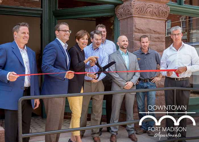 DOWNTOWN FORT MADISON APARTMENTS CELEBRATE THEIR RIBBON CUTTING
