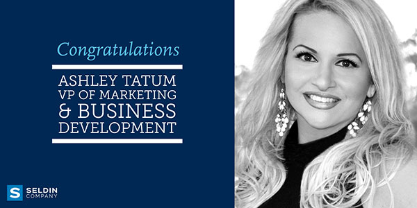 ASHLEY TATUM PROMOTED TO VICE PRESIDENT OF MARKETING & BUSINESS DEVELOPMENT