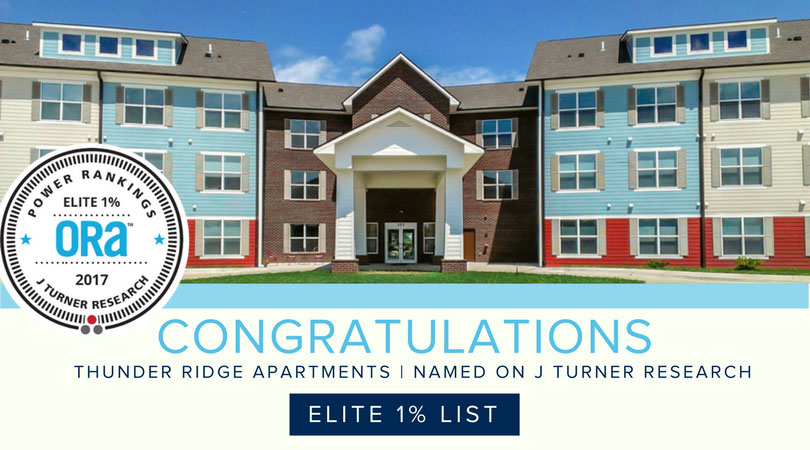 THUNDER RIDGE MAKES THE ELITE 1% LIST
